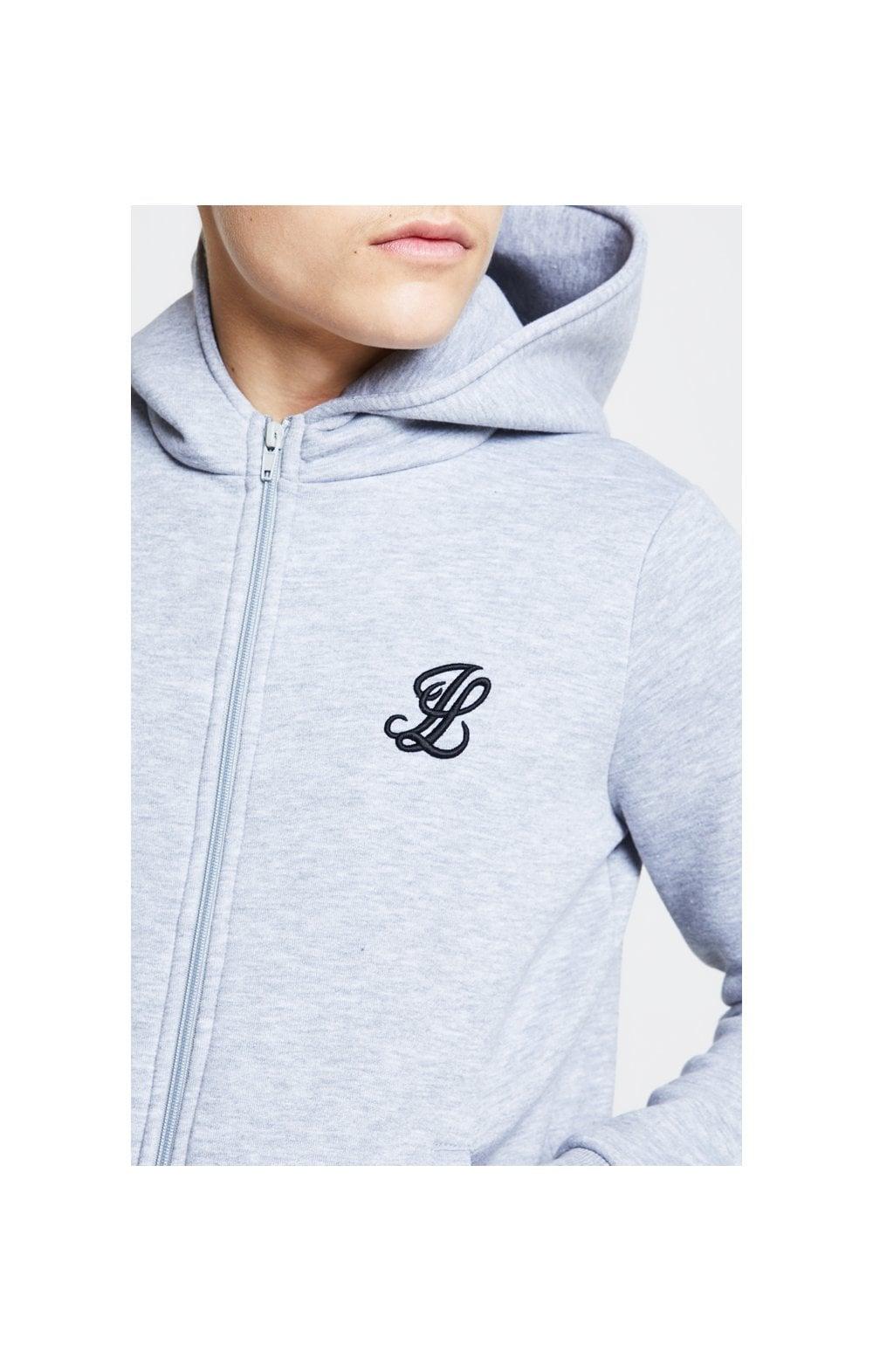 Illusive London Zip Through Hoodie  Grey Marl Kids Top Sizes: 13-14 YRS