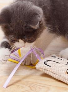 1pc Cat Tassel Canvas Toy