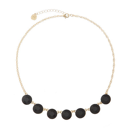 Monet Jewelry 17 Inch Rope Collar Necklace, One Size , Black