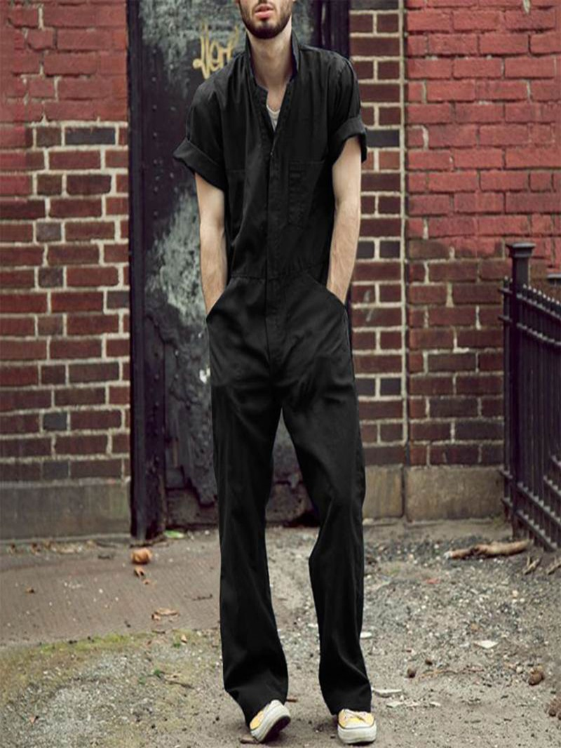 Ericdress Full Length Plain Jumpsuits/Overalls