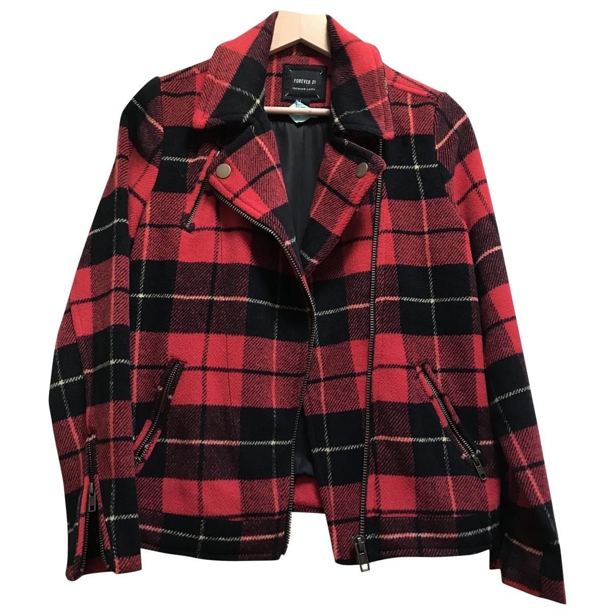 - Veste Epaulettes pour femme en laine - rouge
