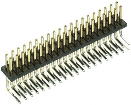 HARWIN , Archer M50, 40 Way, 2 Row, Right Angle Pin Header