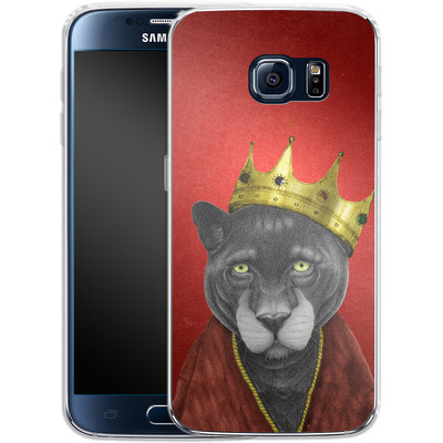 Samsung Galaxy S6 Silikon Handyhuelle - The King Panther von Barruf