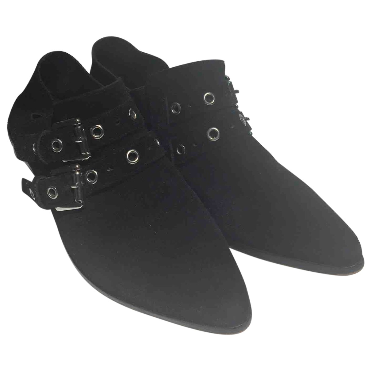 Rebecca Minkoff \N Black Suede Ankle boots for Women 38 EU