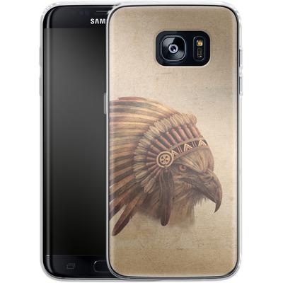 Samsung Galaxy S7 Edge Silikon Handyhuelle - Eagle Chief von Terry Fan