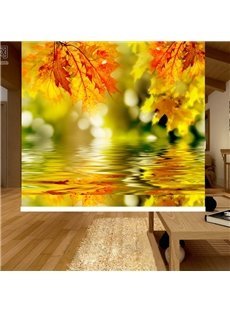 Nature Maple Leaves on the Water Printing Blackout 3D Roller Shades