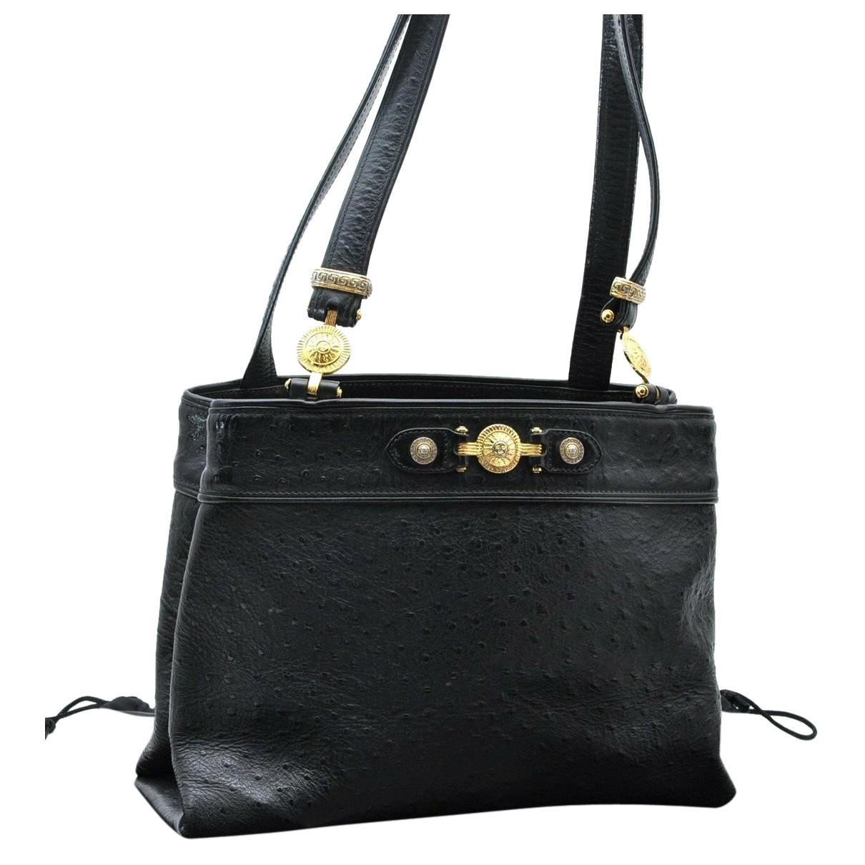Gianni Versace N Black Leather handbag for Women N