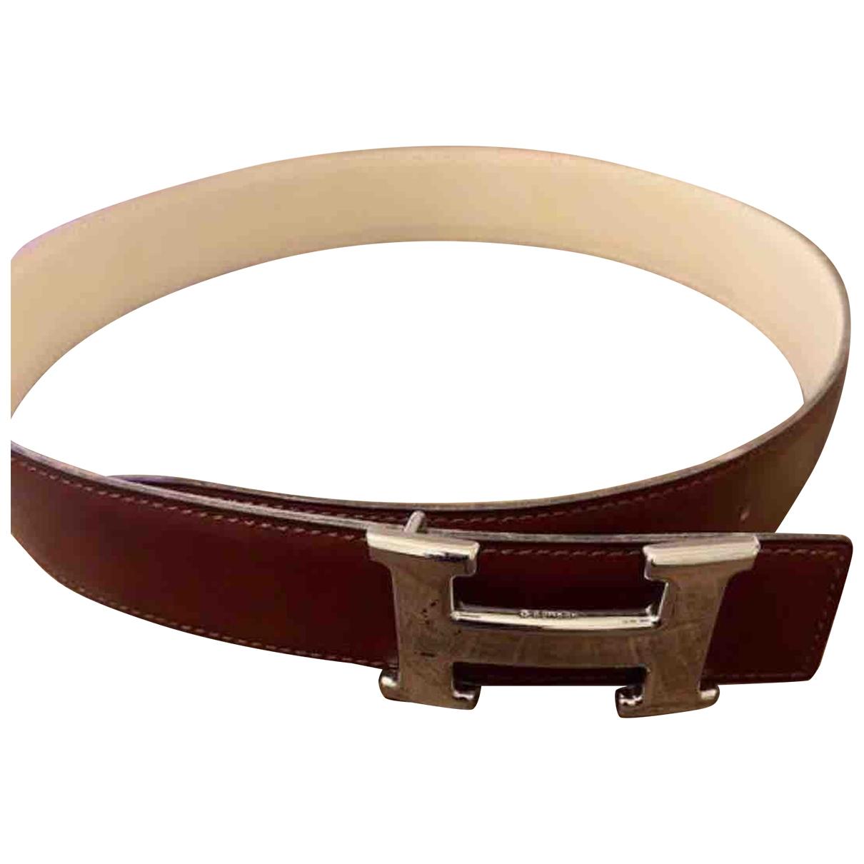 Hermès H Brown Leather belt for Women XS International