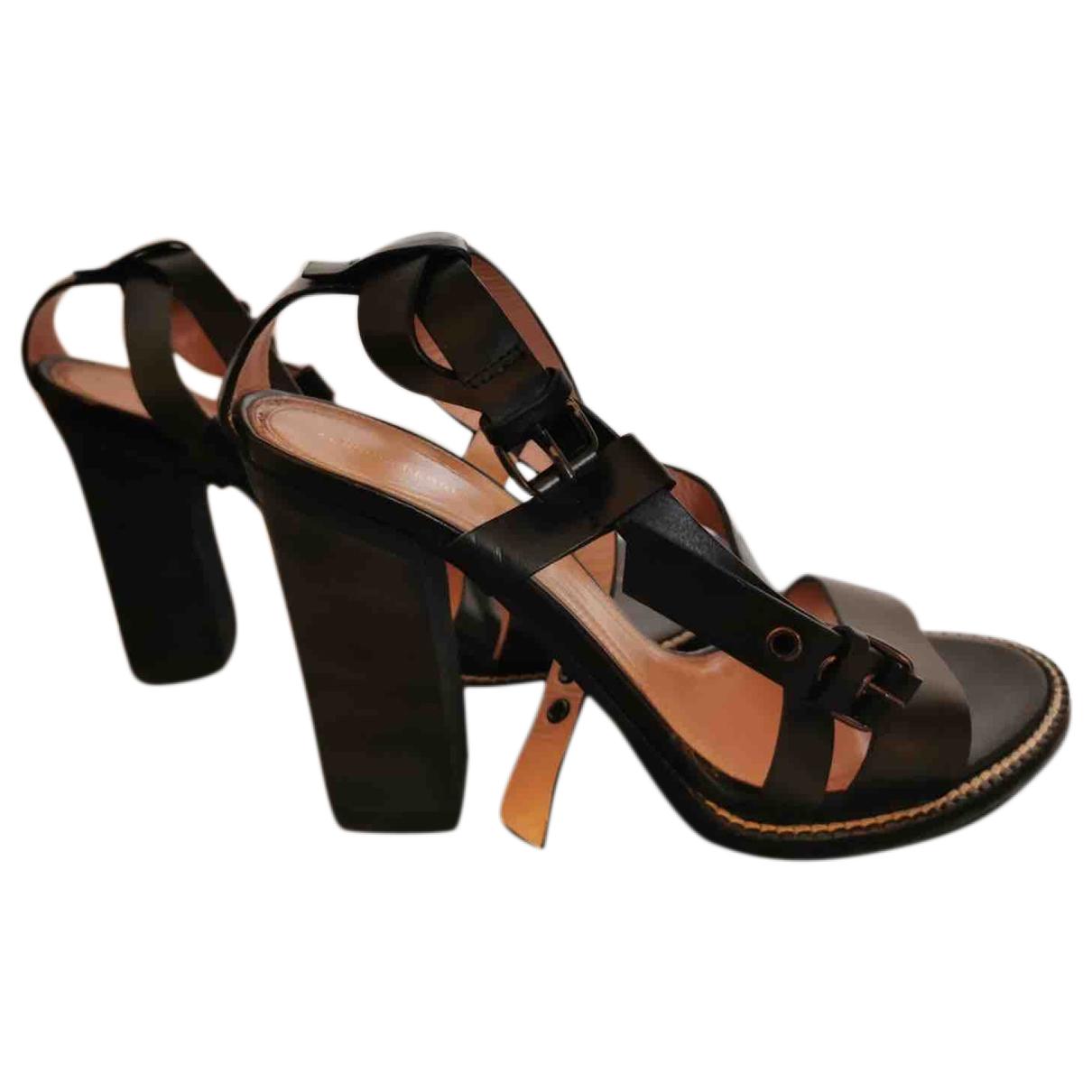 Alberta Ferretti \N Black Leather Sandals for Women 38 EU