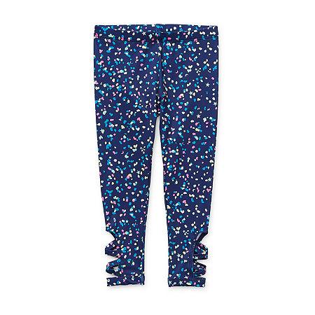 Okie Dokie Toddler Girls Legging, 5t , Blue