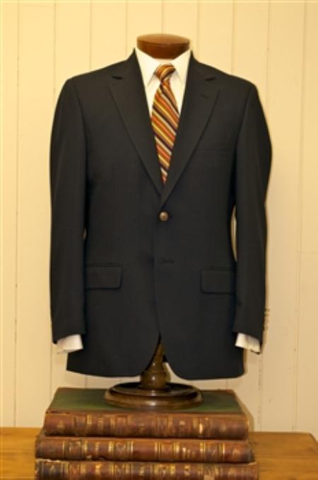 2 Button Big and Tall Size blazer 56 toWool Suit Black