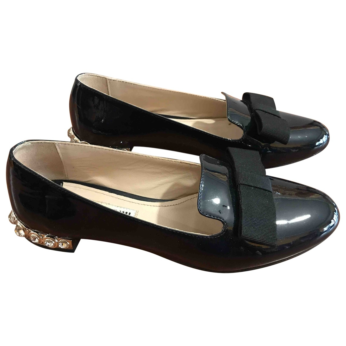 Miu Miu \N Blue Patent leather Flats for Women 35.5 EU