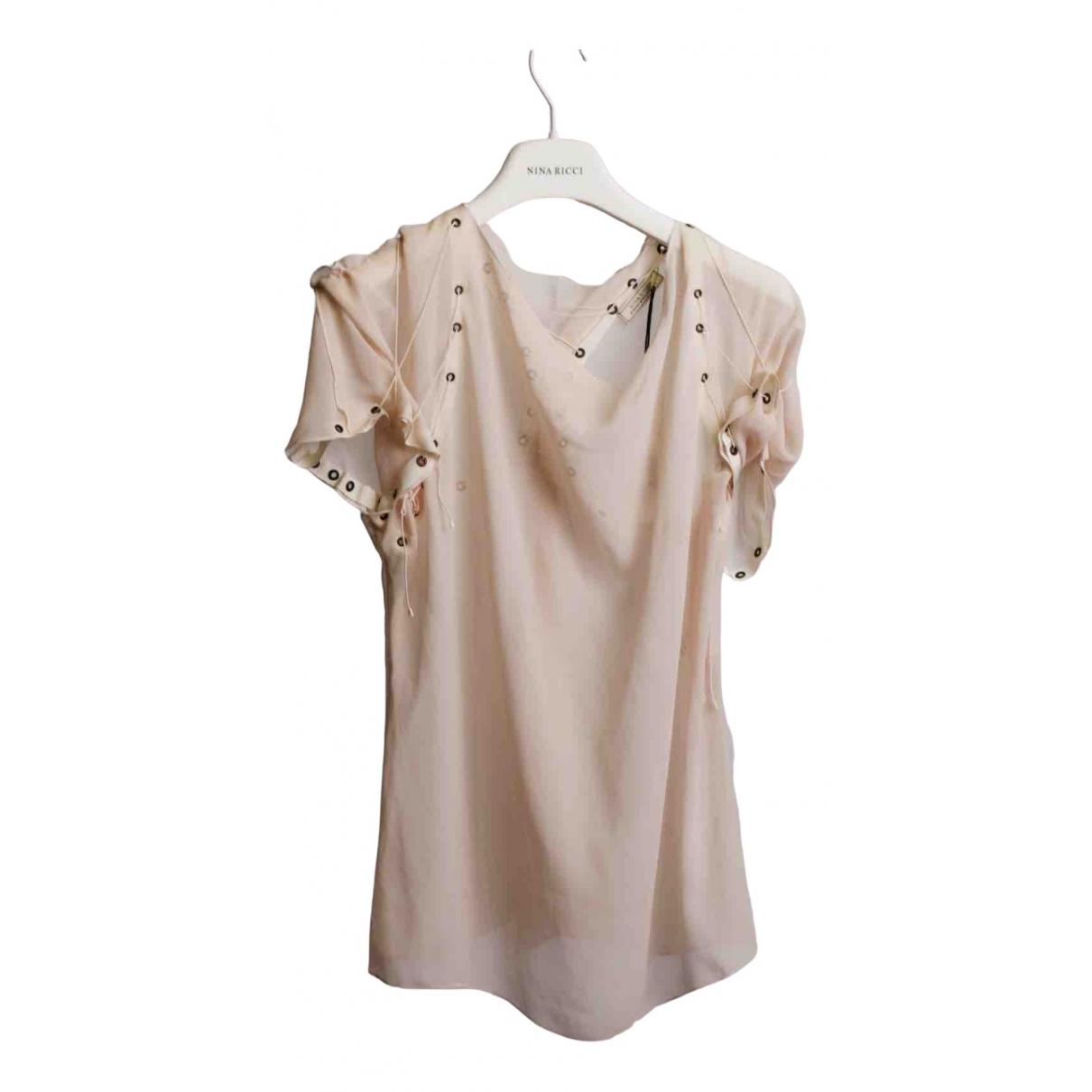 Nina Ricci \N Pink Silk  top for Women 36 FR