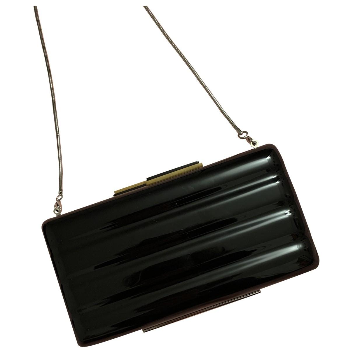 Bolsos clutch en Plastico Negro Angela Caputi
