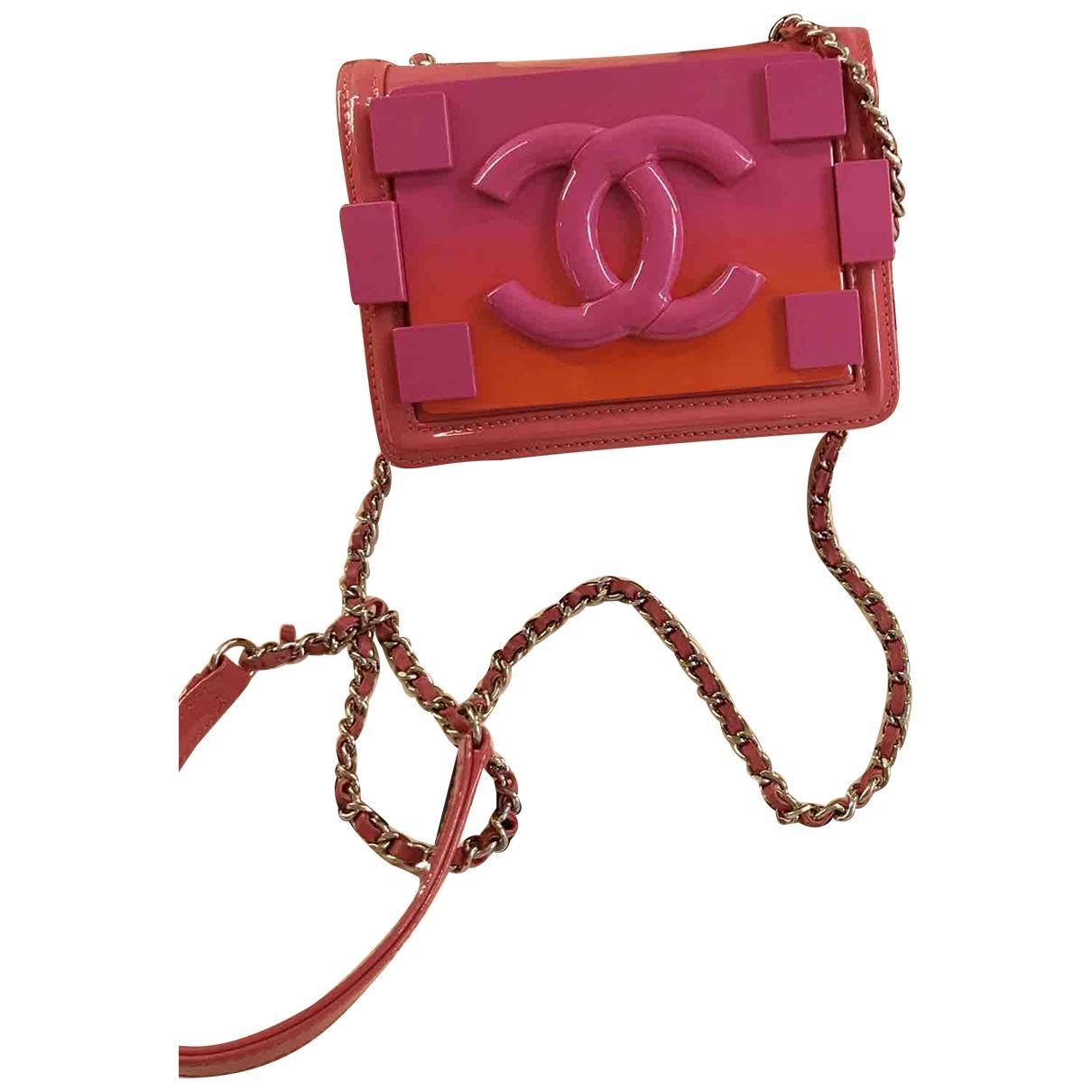 Chanel - Sac a main Lego pour femme en cuir verni - rose