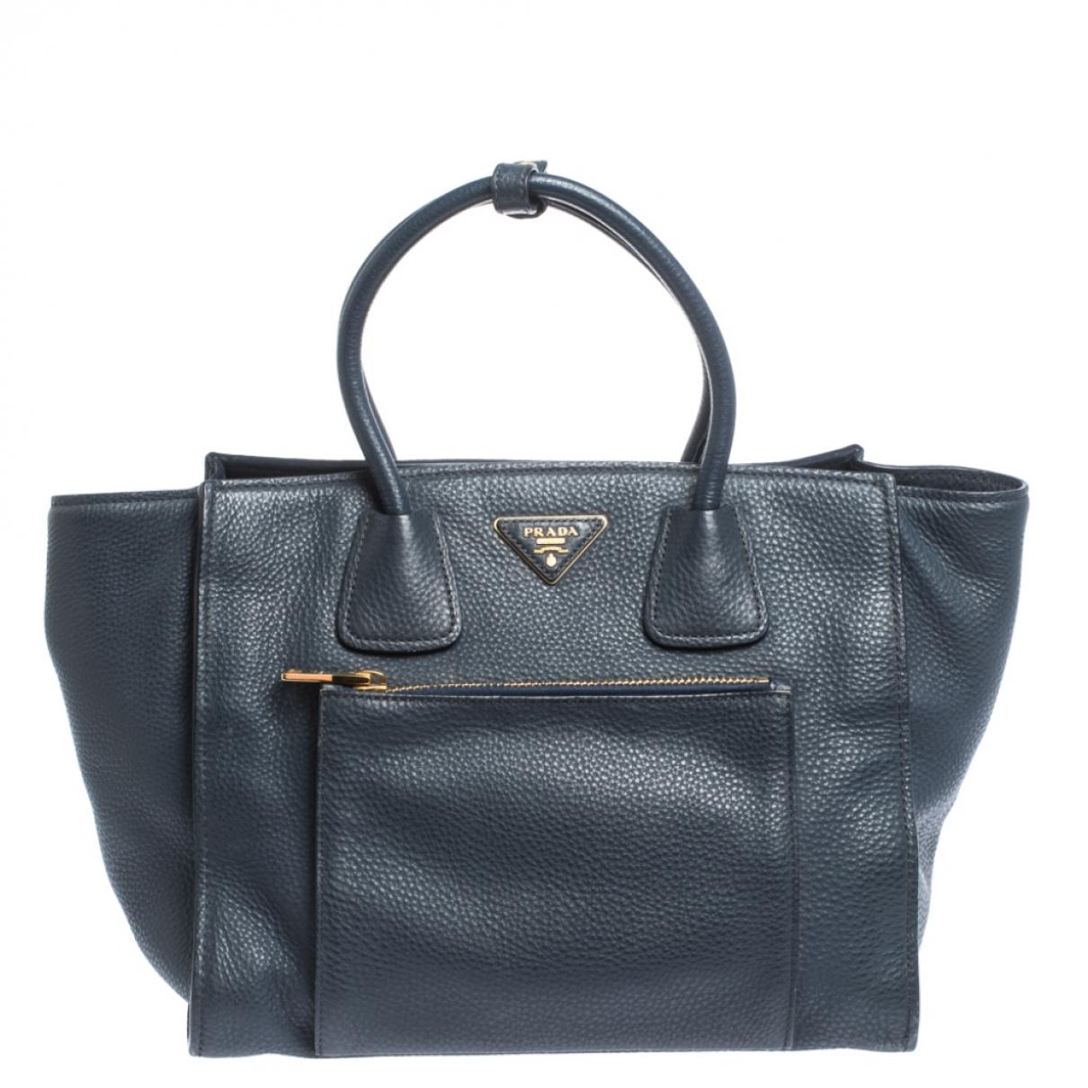 Prada \N Handtasche in  Marine Leder