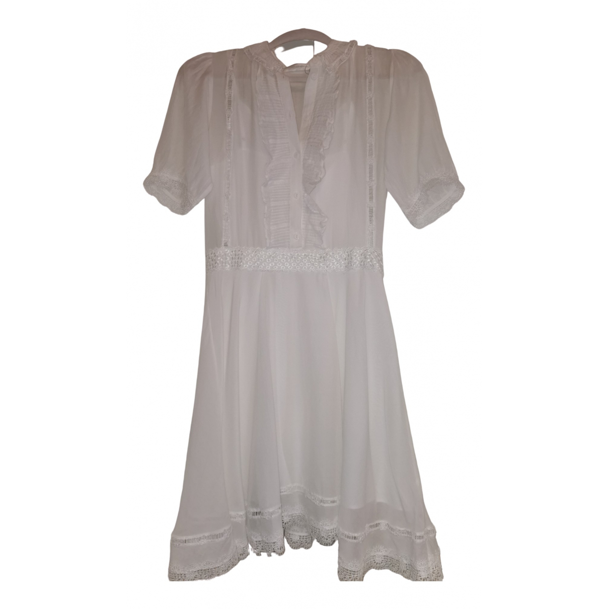 Zimmermann - Robe   pour femme en coton - blanc
