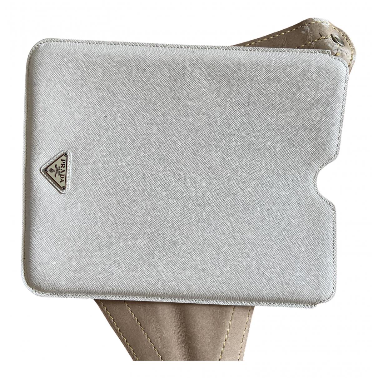 Prada - Accessoires   pour lifestyle en cuir - blanc