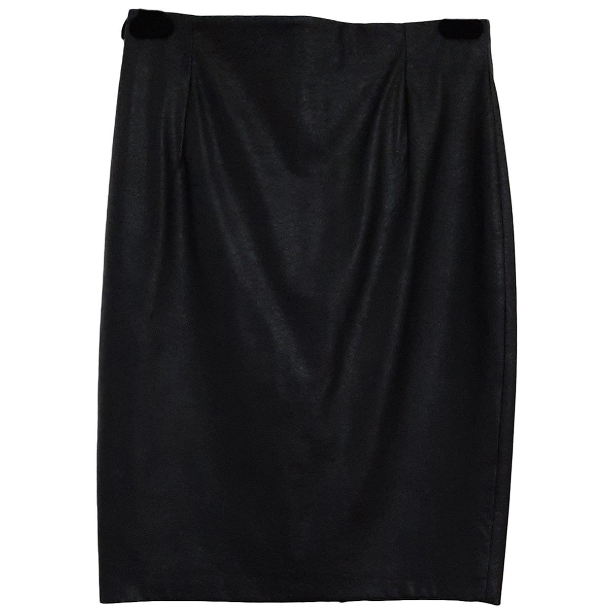 Marella N Black Leather skirt for Women 40 IT