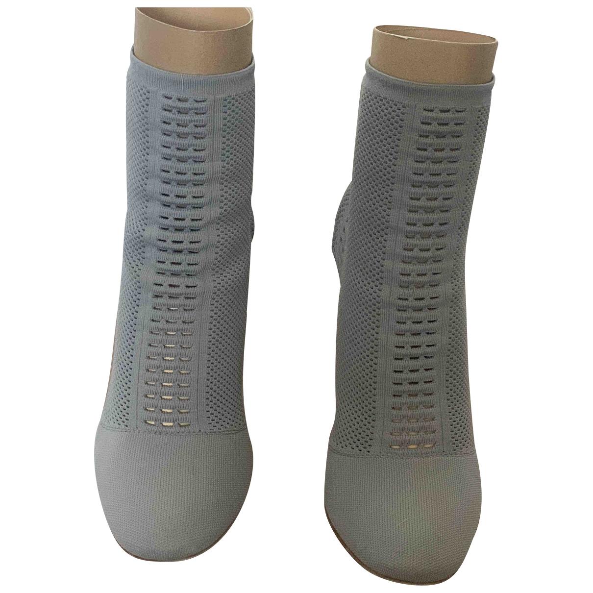 Gianvito Rossi - Boots   pour femme en toile - bleu