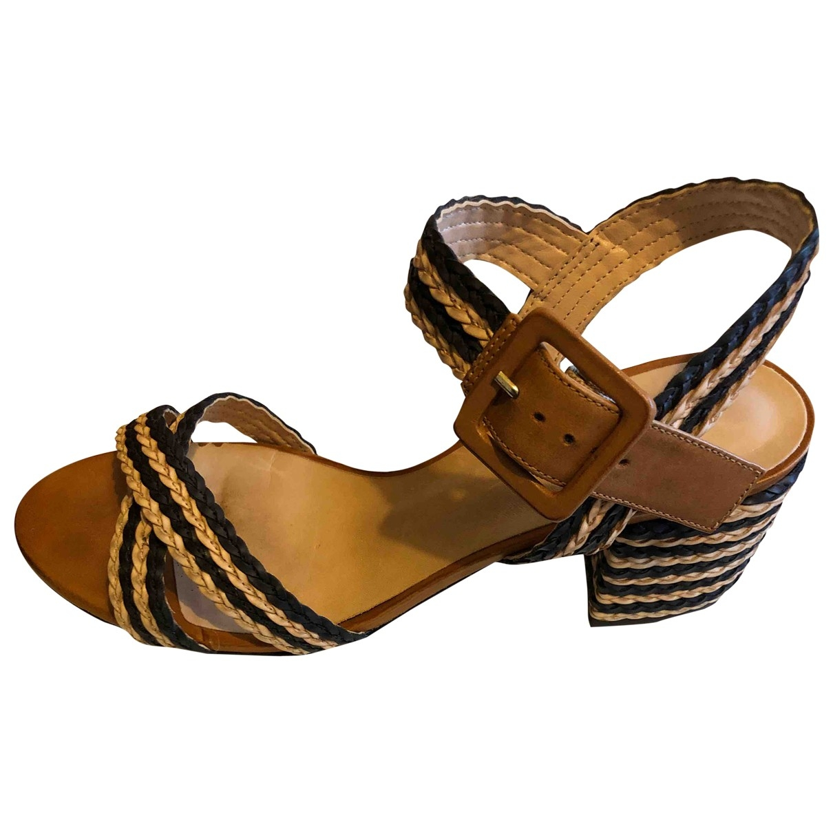 Non Signé / Unsigned \N Beige Leather Sandals for Women 38 IT