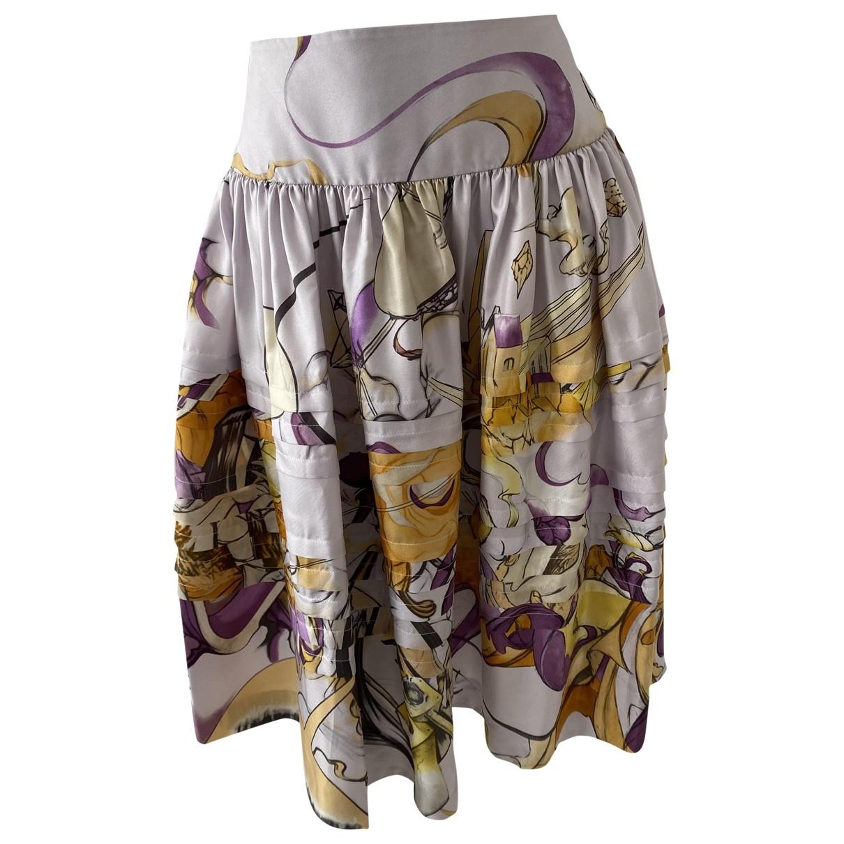 Prada - Jupe   pour femme en soie - violet