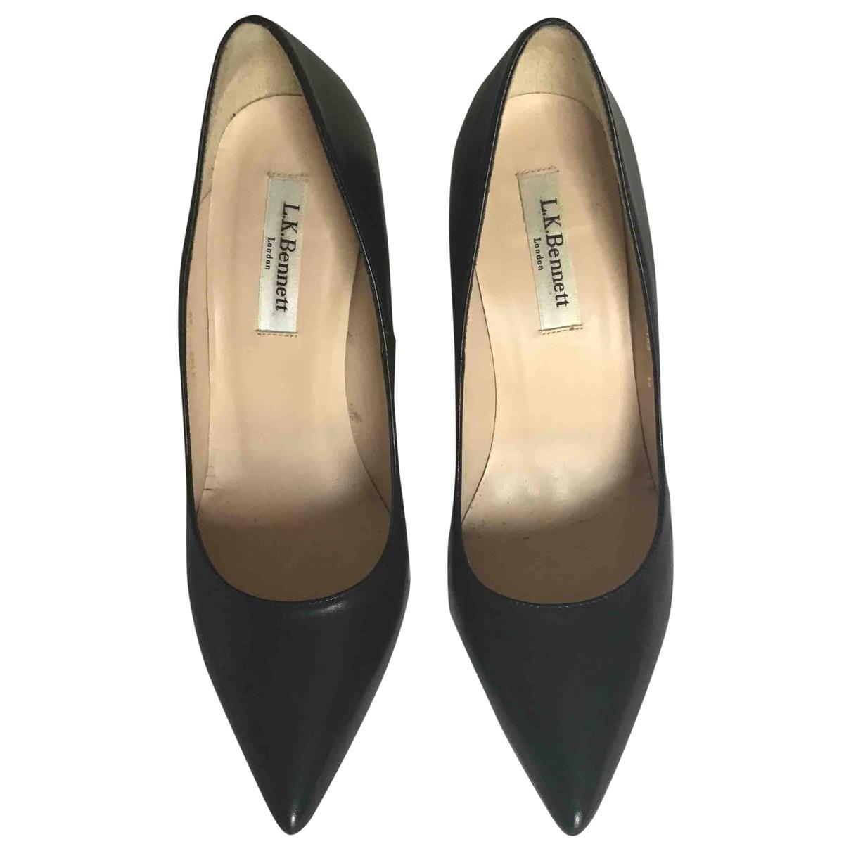 Lk Bennett \N Black Leather Heels for Women 38 EU