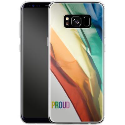 Samsung Galaxy S8 Silikon Handyhuelle - Rainbow Flag von caseable Designs
