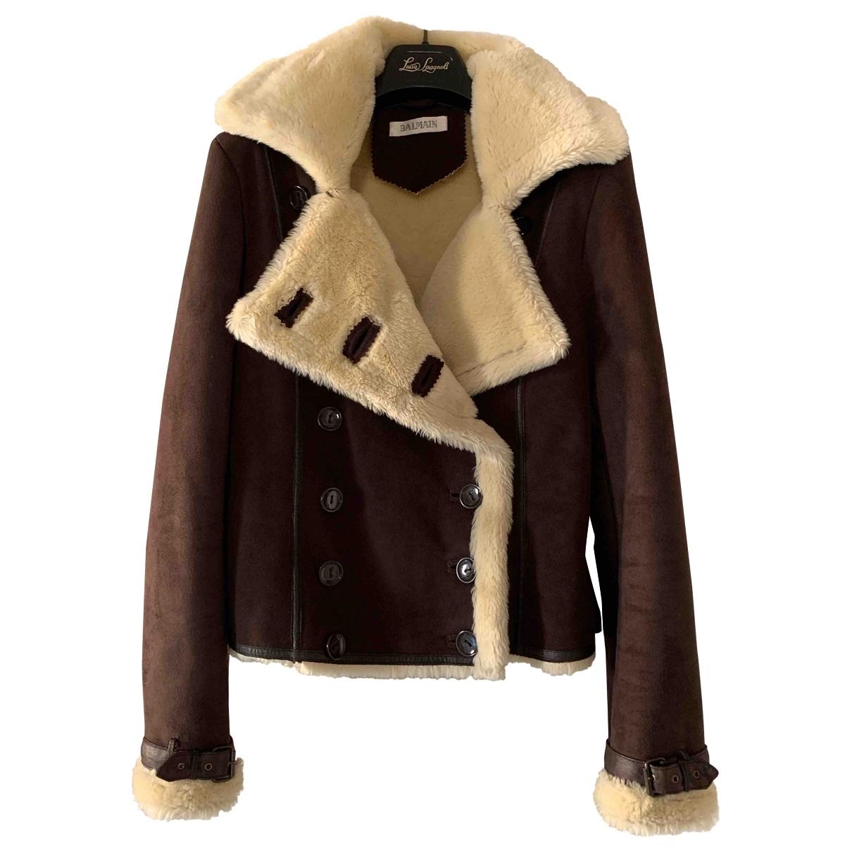 Balmain - Manteau   pour femme - marron