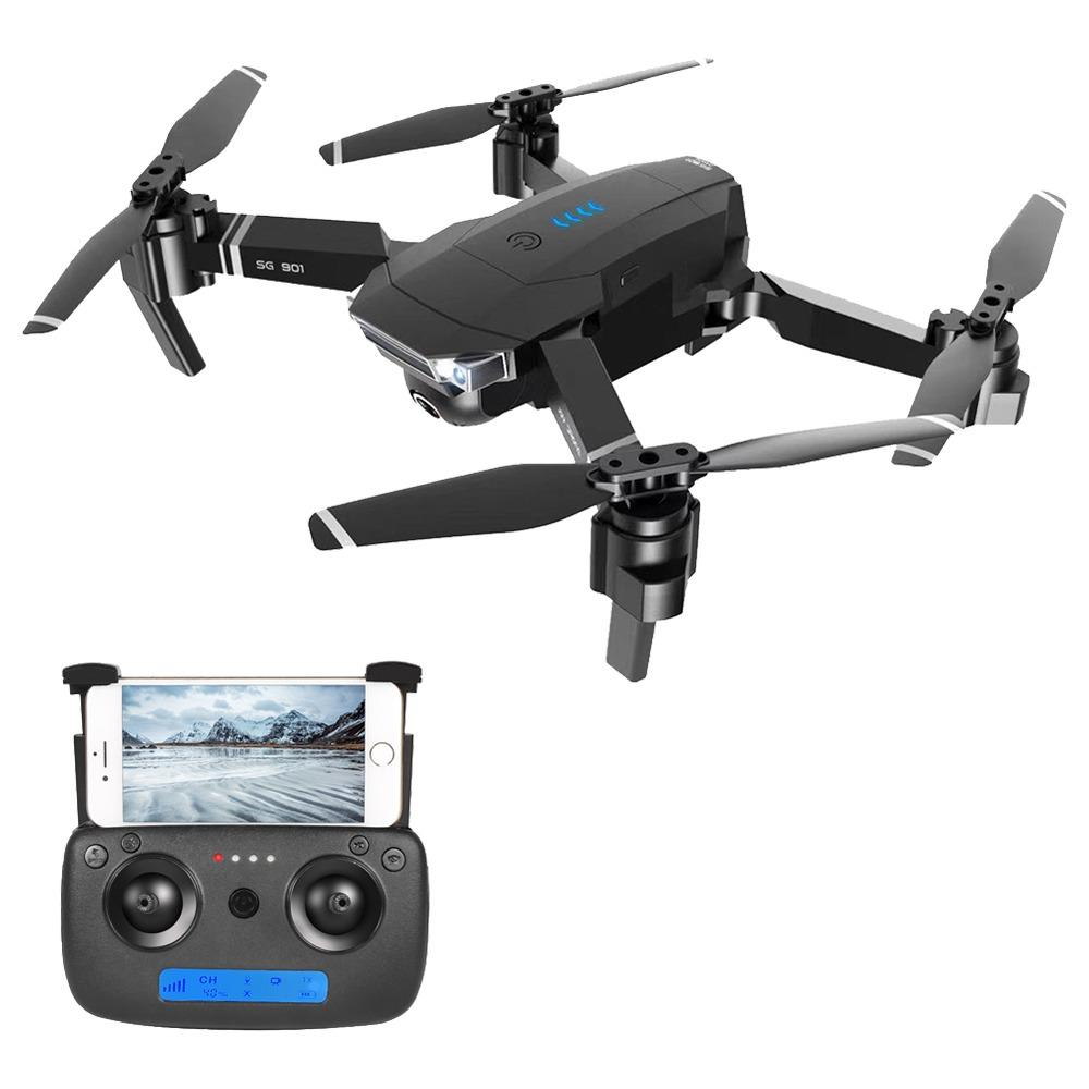 ZLRC SG901 YUE 4K WIFI Foldable RC Drone With Adjustable Wide-angle Camera Optical Flow Positioning RTF - Black