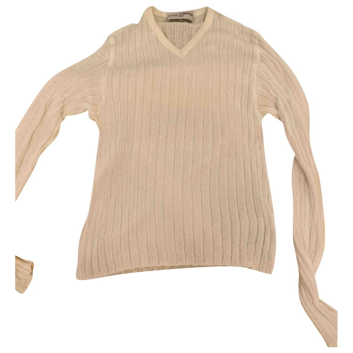 Dolce & Gabbana \N Pullover.Westen.Sweatshirts  in  Weiss Viskose