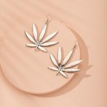 Maple Leaf Design Drop Earrings