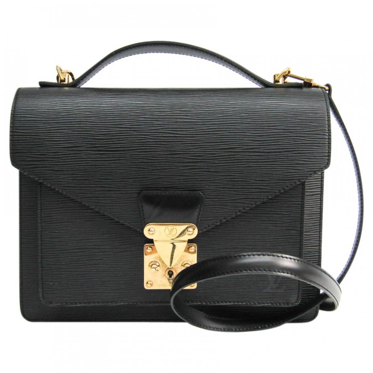 Louis Vuitton Monceau Handtasche in  Schwarz Leder