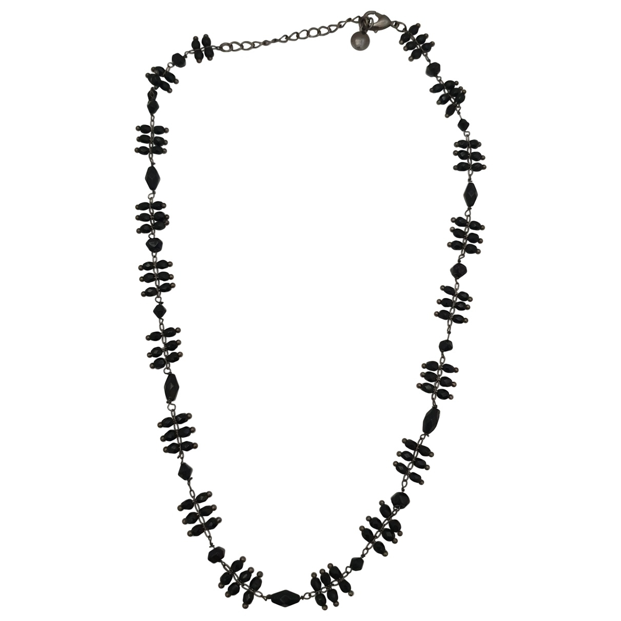 Non Signé / Unsigned \N Black Crystal necklace for Women \N