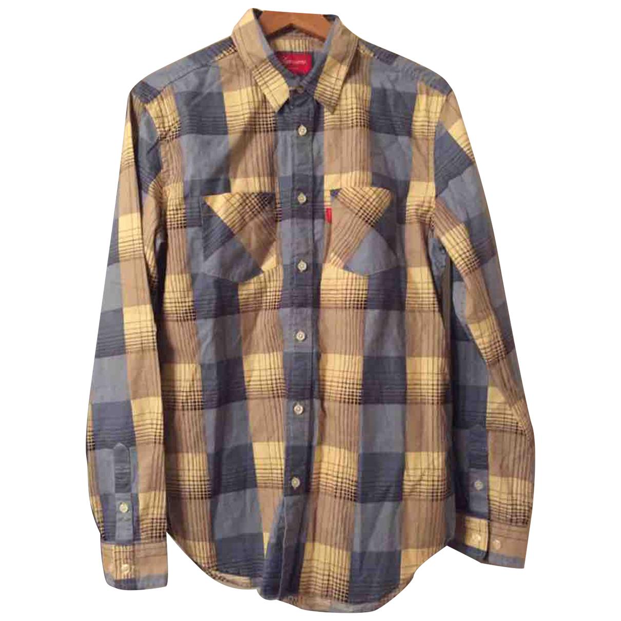 Supreme - Chemises   pour homme en coton - bleu