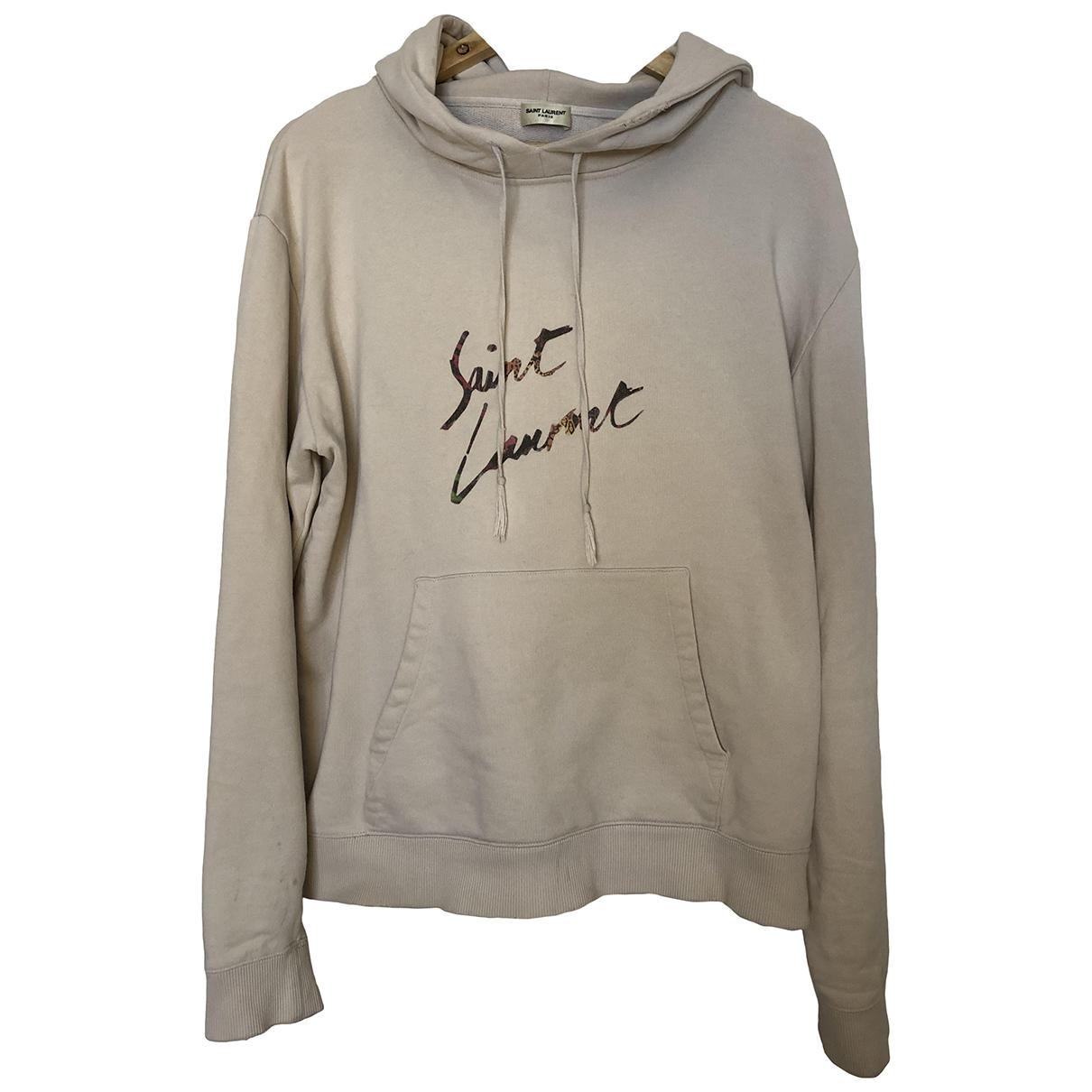 Saint Laurent - Pulls.Gilets.Sweats   pour homme en coton - beige