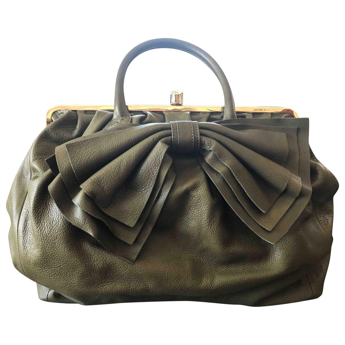 Red Valentino Garavani \N Handtasche in  Khaki Leder