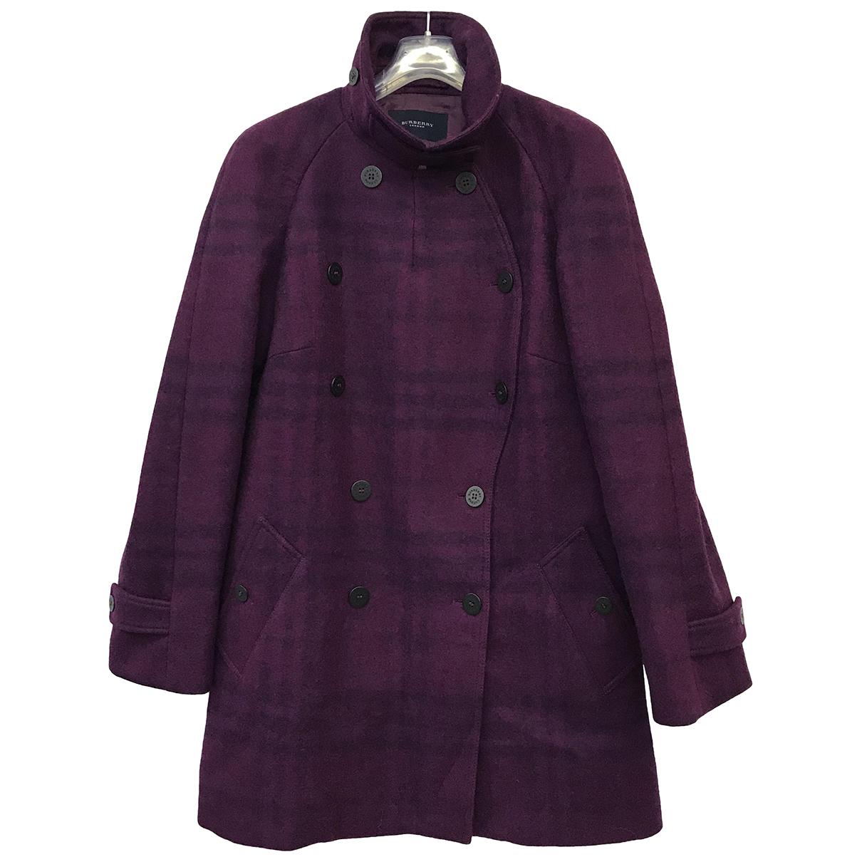 Burberry - Manteau   pour femme en laine - violet
