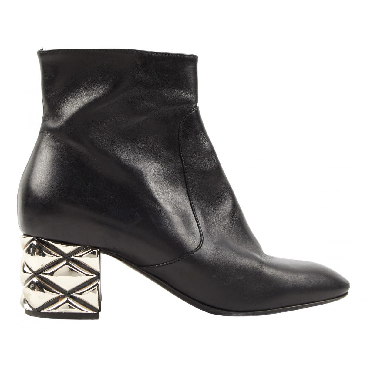 Louis Vuitton - Boots Skyline pour femme en cuir - noir