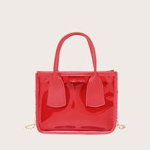 Girls Clear Satchel Bag With Inner Pouch