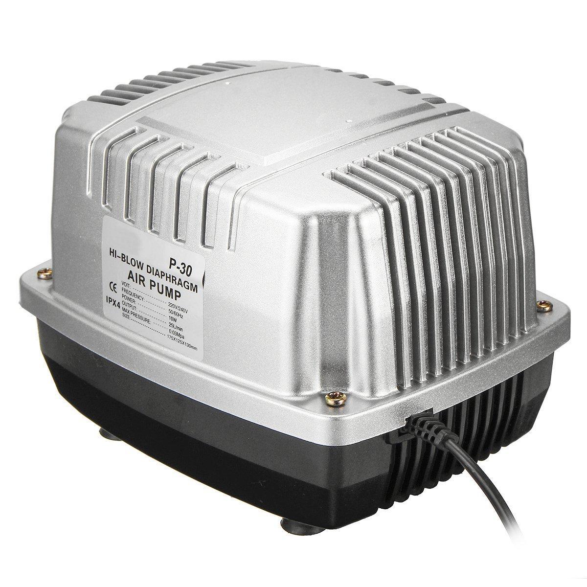 25 L/min Aquarium Oxygen Air Pump Pond Aerator with Accessories