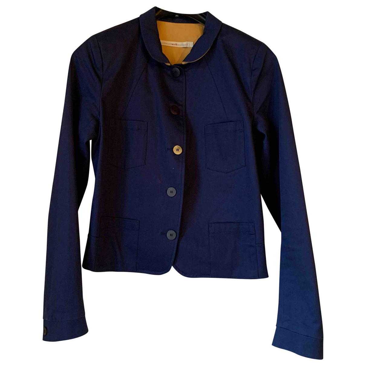 Non Signé / Unsigned \N Blue Cotton jacket for Women 36 FR