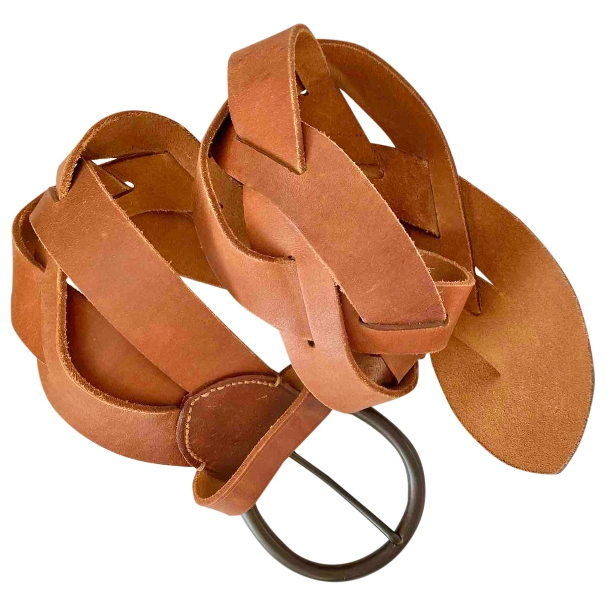Ralph Lauren \N Camel Leather belt for Women M International