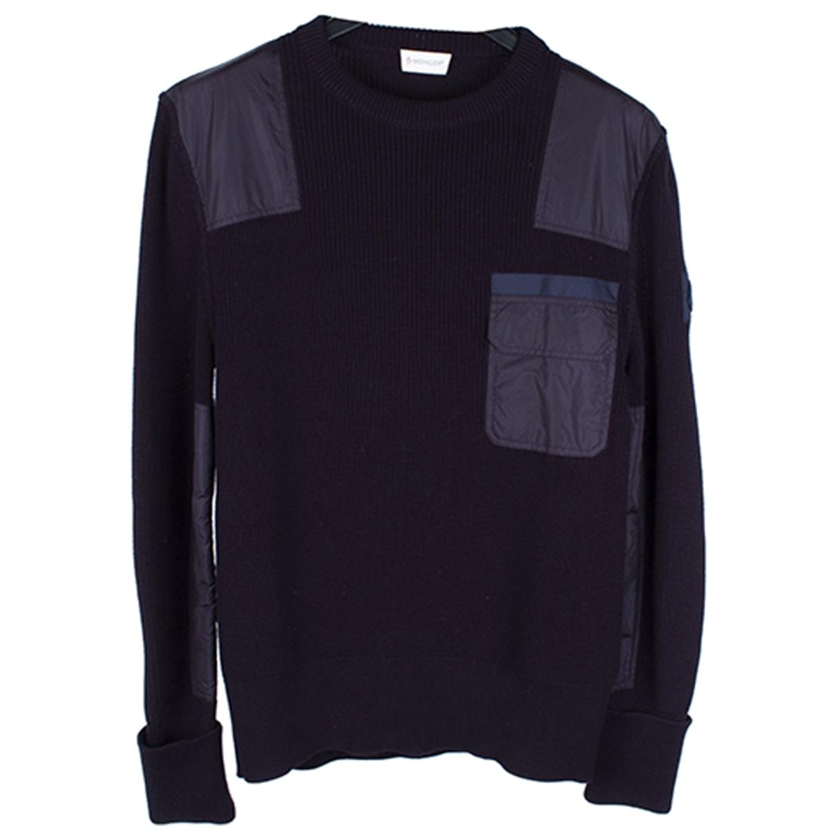 Moncler \N Pullover.Westen.Sweatshirts  in  Blau Baumwolle