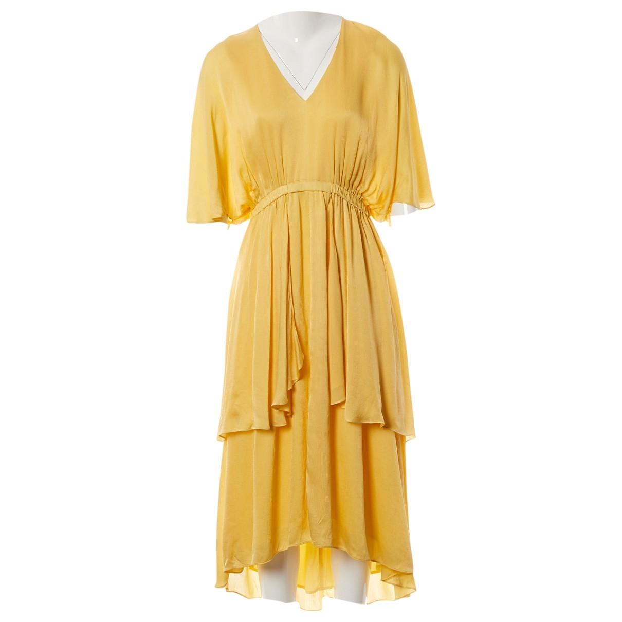 Dagmar \N Kleid in  Gelb Viskose