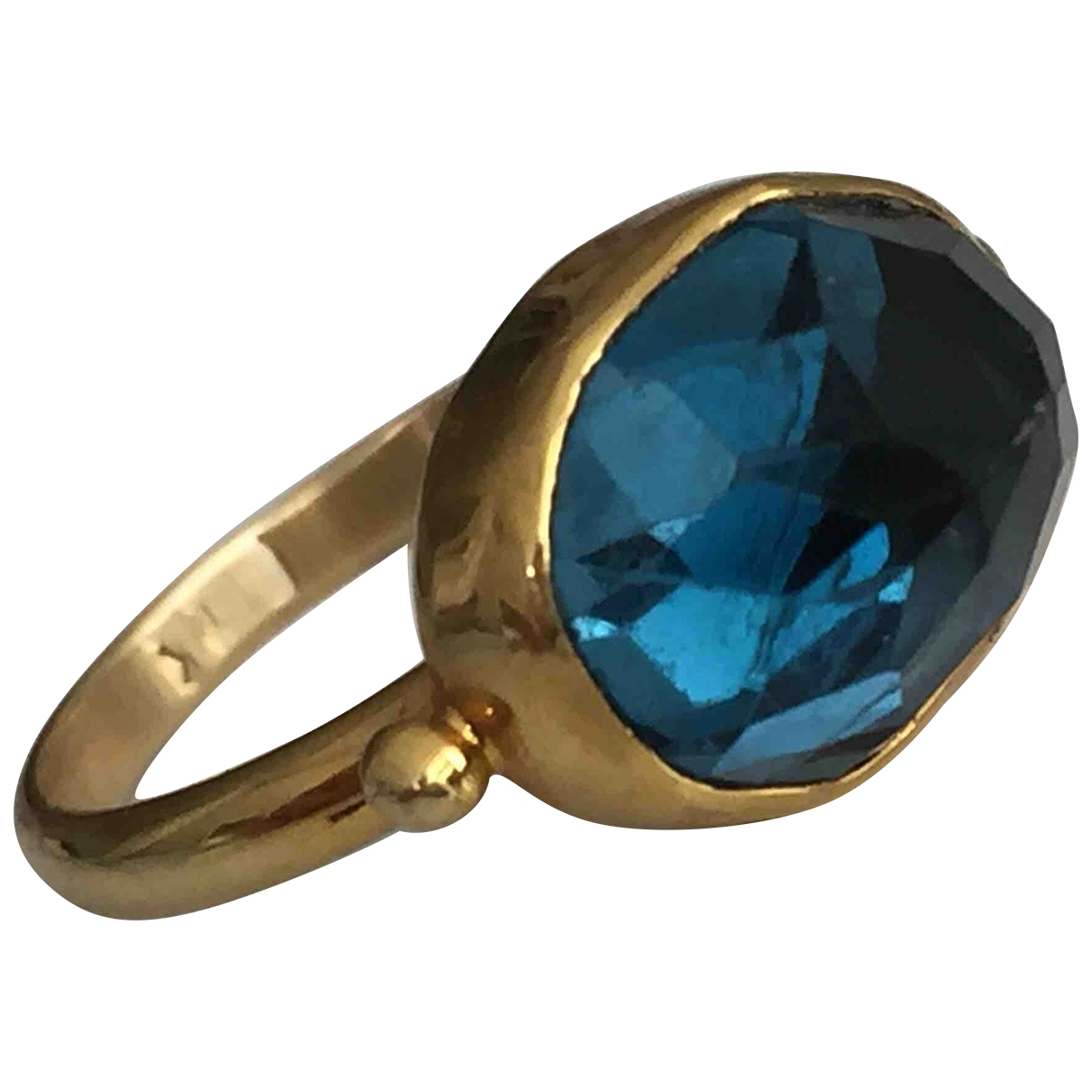 Non Signé / Unsigned \N Blue Yellow gold ring for Women 49 MM