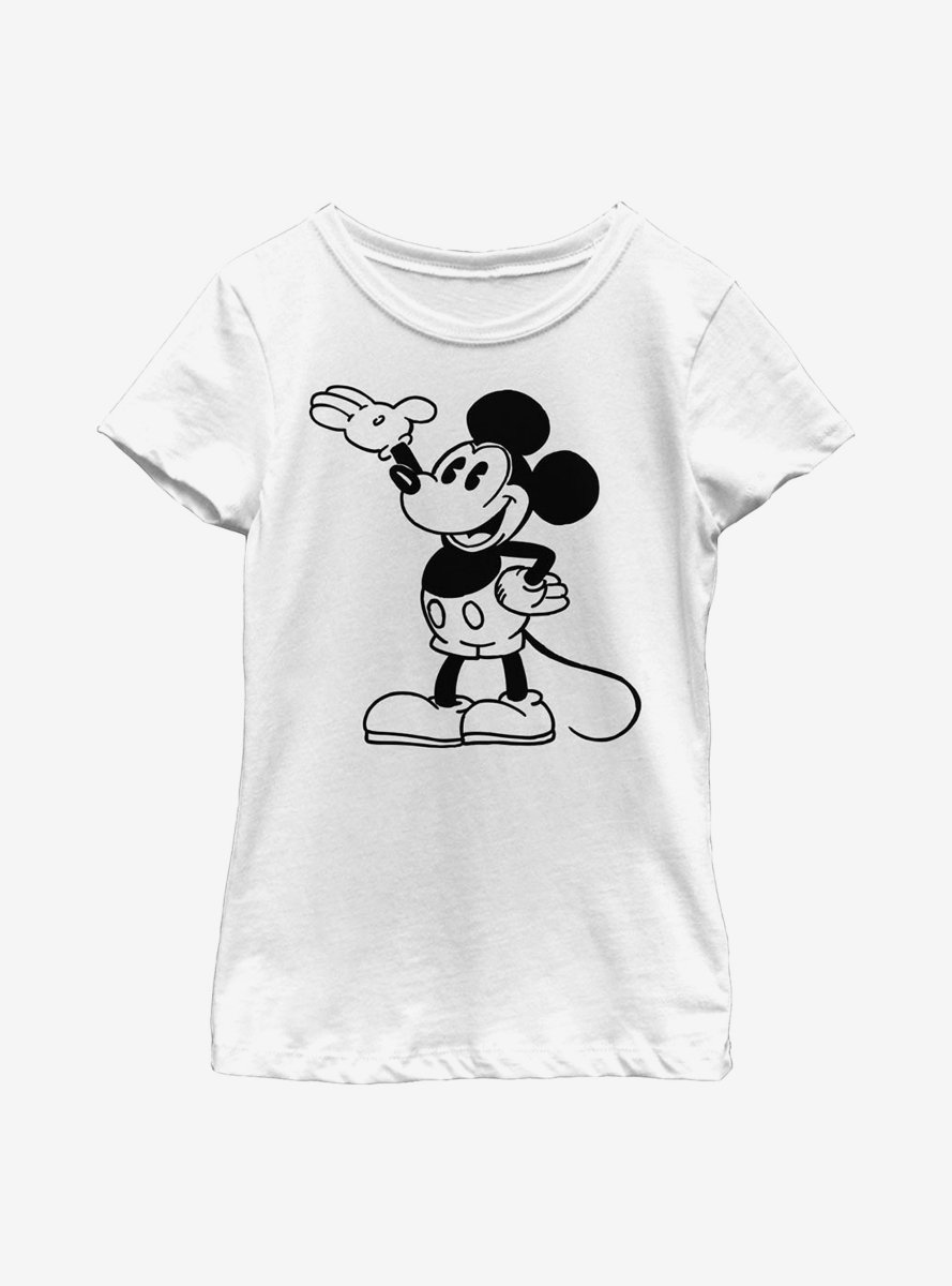 Disney Mickey Mouse Pose Youth Girls T-Shirt