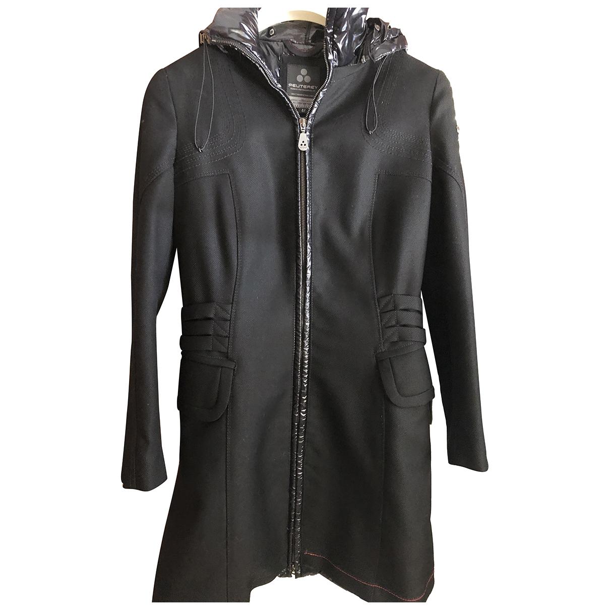 Peuterey - Manteau   pour femme en laine - noir