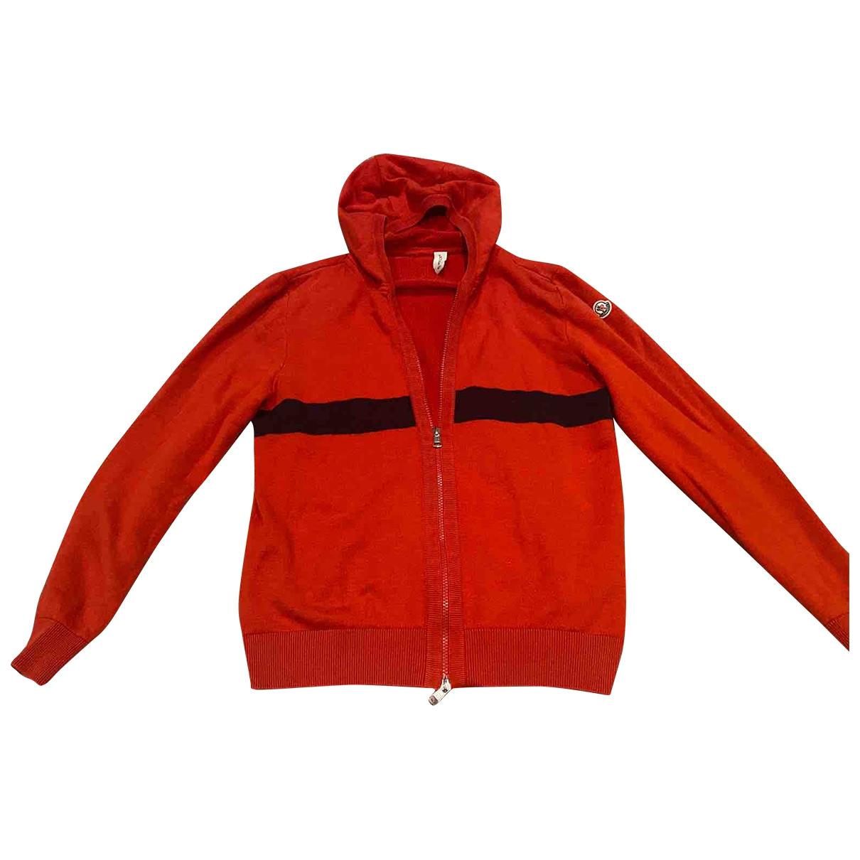 Moncler Hood Red Cotton jacket for Women M International