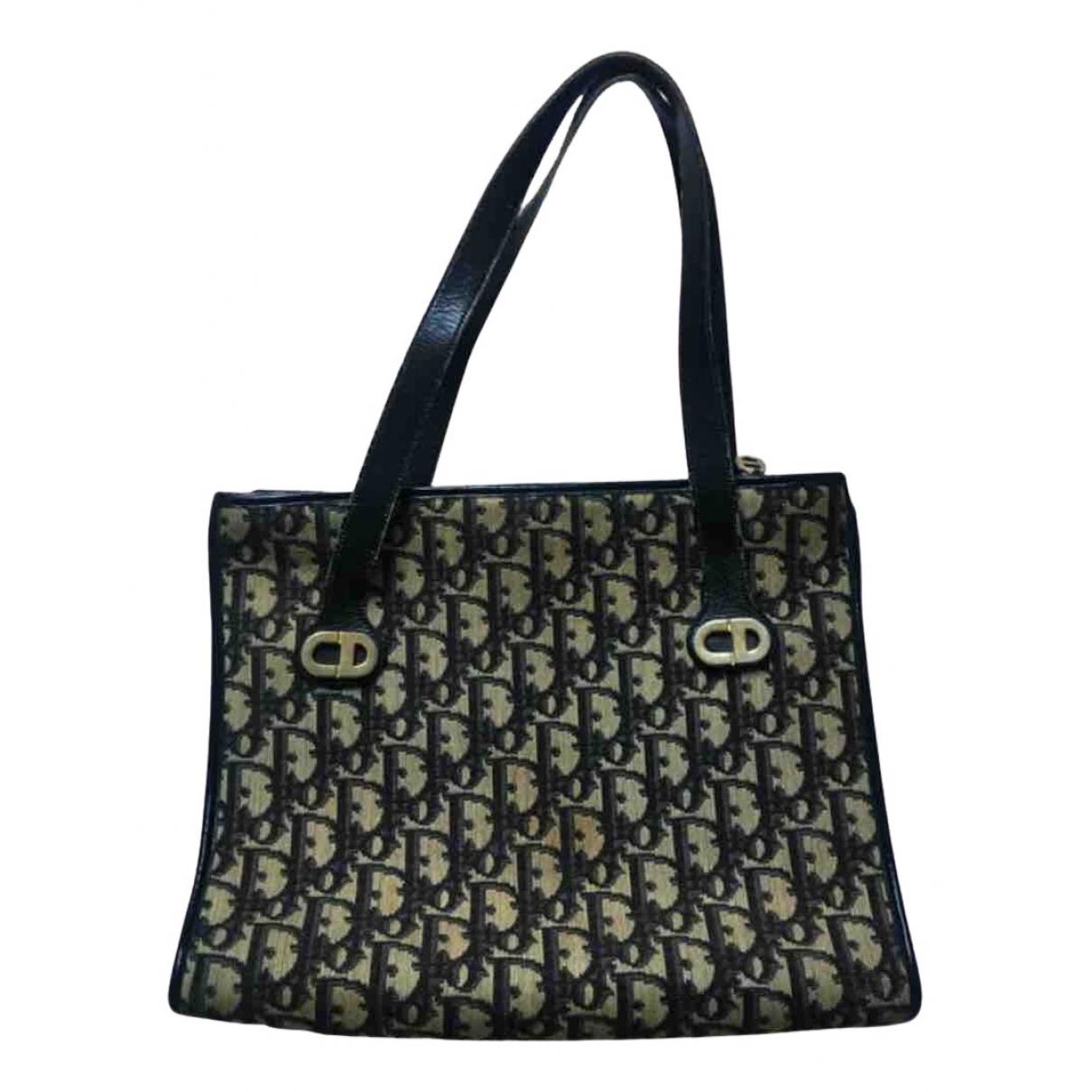 Dior \N Handtasche in  Marine Leinen